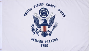 Coast Guard Flag 3x5ft 210D Nylon Single-Sided