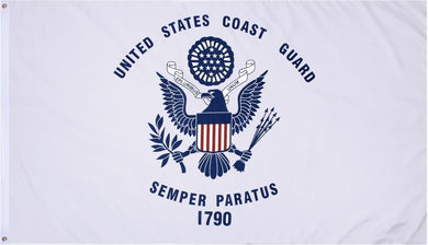 Coast Guard Flag 3x5ft 210D Nylon Double-Sided