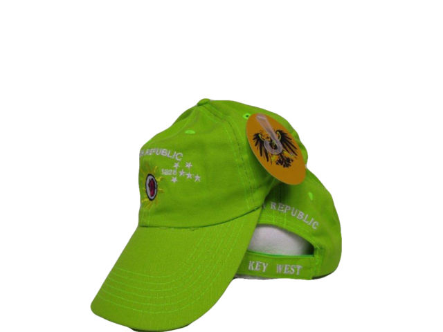 12 CONCH REPUBLIC KEY WEST CAP LIME GREEN CAPS SOLD BY THE DOZEN