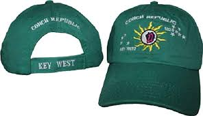 12 CONCH REPUBLIC KEY WEST CAPS TEAL CAPS SOLD BY THE DOZEN