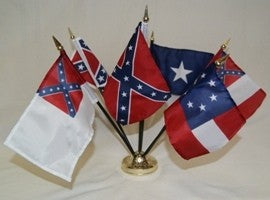 12 CSA DESK SETS FLAG SETS SOLD BY THE DOZEN
