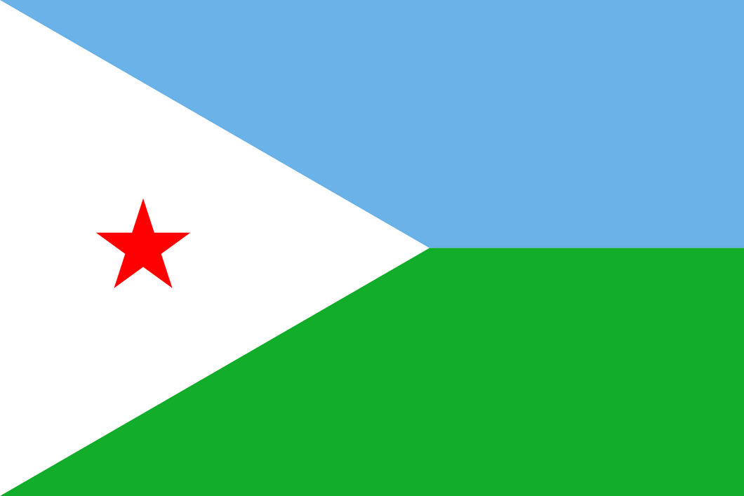 Djibouti Flag 3x5ft Poly