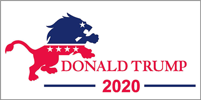 Trump Lion 2020 Pack of 50 bumper stickers