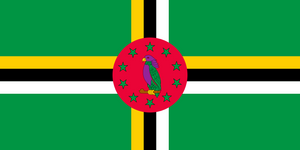 Dominica Flag 3x5ft Poly