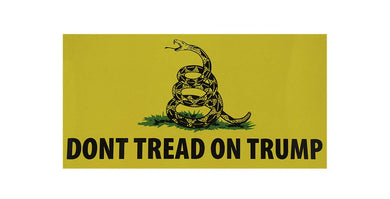 DON'T TREAD ON TRUMP GADSDEN MAGA Bumper Sticker sold by the pack of 50