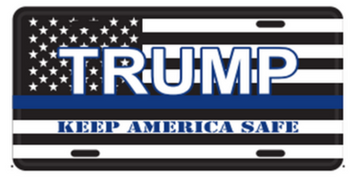 Trump Keep America Safe KAS Embossed License Plate