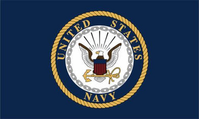 US Navy Emblem Flag Deluxe Polar Fleece Blanket