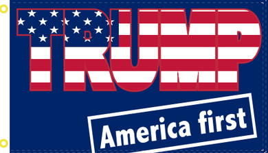 Trump America First 3'X5' Flag ROUGH TEX ®100D