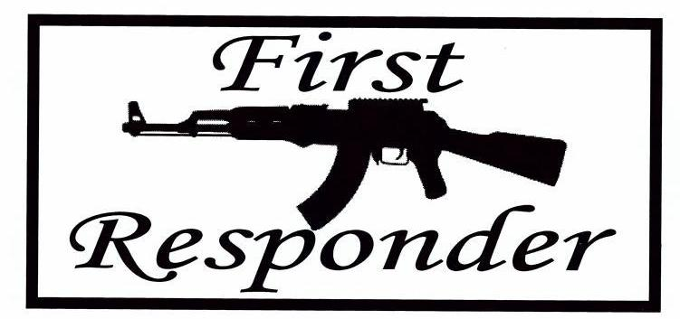 First Responder (rifle) Bumper Sticker