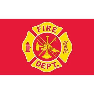FIRE DEPARTMENT STATION FLAG 3X5 75D