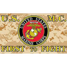 U.S.M.C First To Fight 3'X5' Flag Rough Tex® Super Polyester