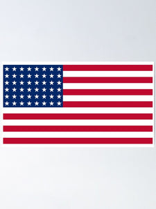 48 Stars USA Embroidered 3'X5' Flag Rough Tex® 150D