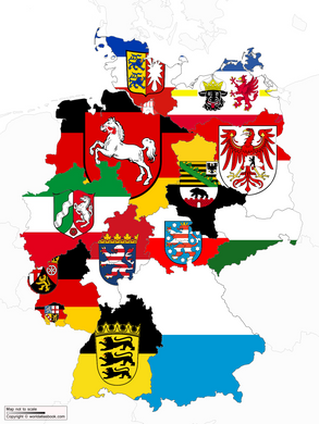 German States Landers (all 16) 3'x5' economical flags sold by the dozen Germany State Flags