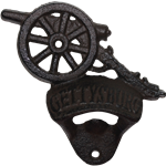 Cast Iron Gettysburg Cannon Bottle Opener Wall Mount