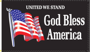 United We Stand God Bless America 3'X5' Flag Rough Tex® 68D Nylon
