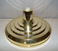 Gold Plastic Flagpole Base