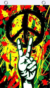 *COMING SOON* Peace Graffiti Double Sided Flag 3'X5' Rough Tex® 100D