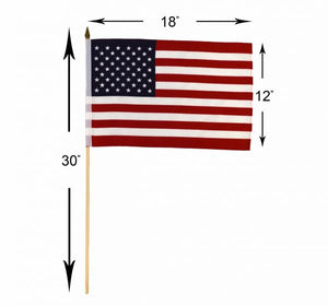 USA 12x18in Grave Marker Stick Flag (Cemetery use & more)