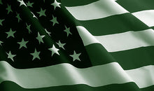 Green & White USA 3'X5' Flag Rough Tex® 100D