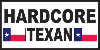HARD CORE TEXAN TEXAS FLAGS OFFICIAL BUMPER STICKER PACK OF 50 BUMPER STICKERS MADE IN USA WHOLESALE BY THE PACK OF 50!