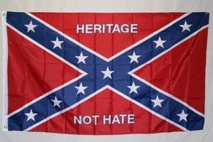 Heritage Not Hate Rebel 3'x5' polyester