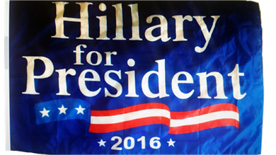 Hillary Clinton 3'x5' for President Flag