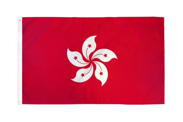 Hong Kong China Flag 3x5ft Poly