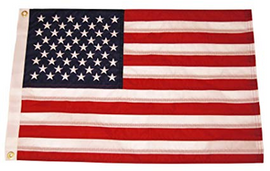 American Boat Flag 12x18in Double-Sided 100D