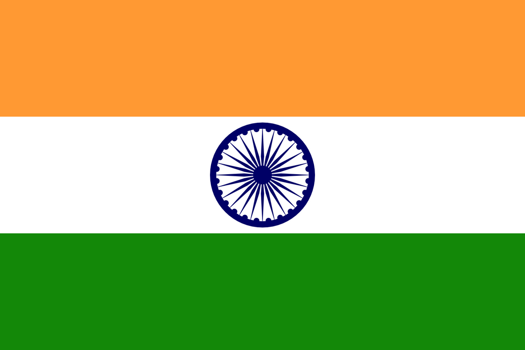India Flag 3x5ft Poly