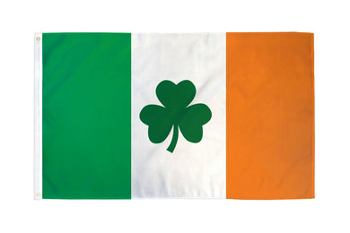 Ireland Shamrock Flag 3x5ft Nylon 210D Double Sided