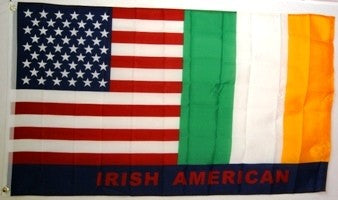 Irish American 3x5ft Nylon 150D Flag