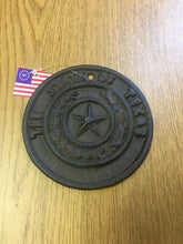 Cast Iron Texas Seal Round