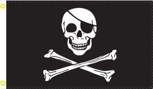 Jolly Roger Pirates 3'X5' Flag Rough Tex® 100D