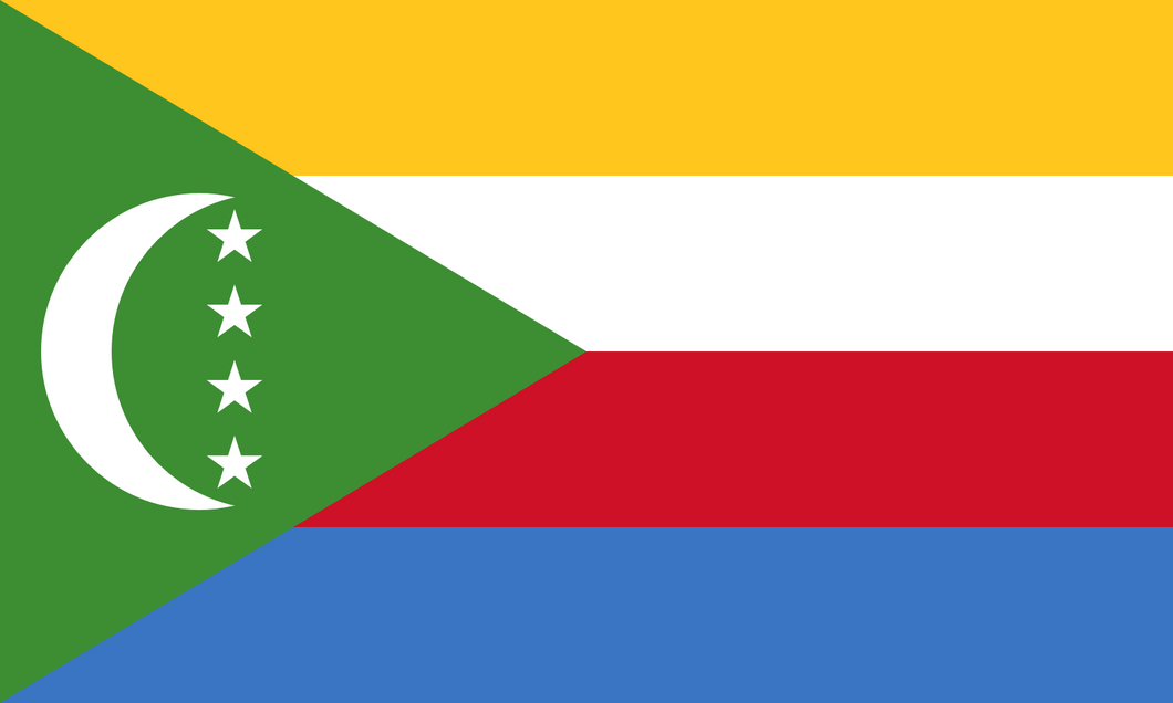 Comoros Flag 3x5ft Poly