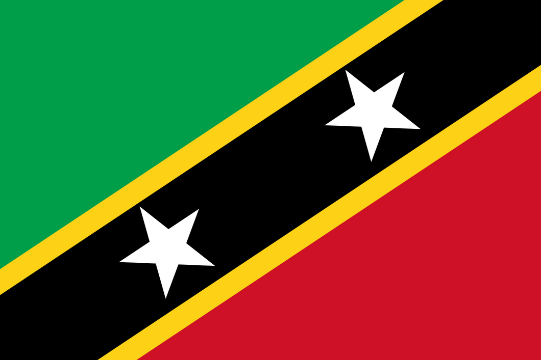 Saint Kitts And Nevis Flag 3x5ft Poly