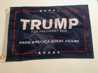 TRUMP OFFICIAL PRESIDENT BOAT FLAG 12X18 INCH GROMMETS KNIT NYLON