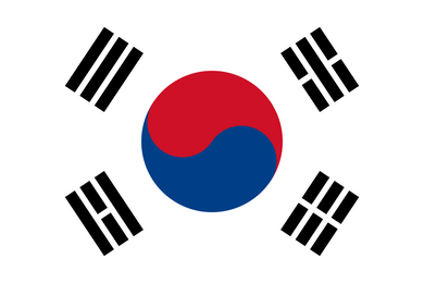 South Korea Flag 3x5ft Poly
