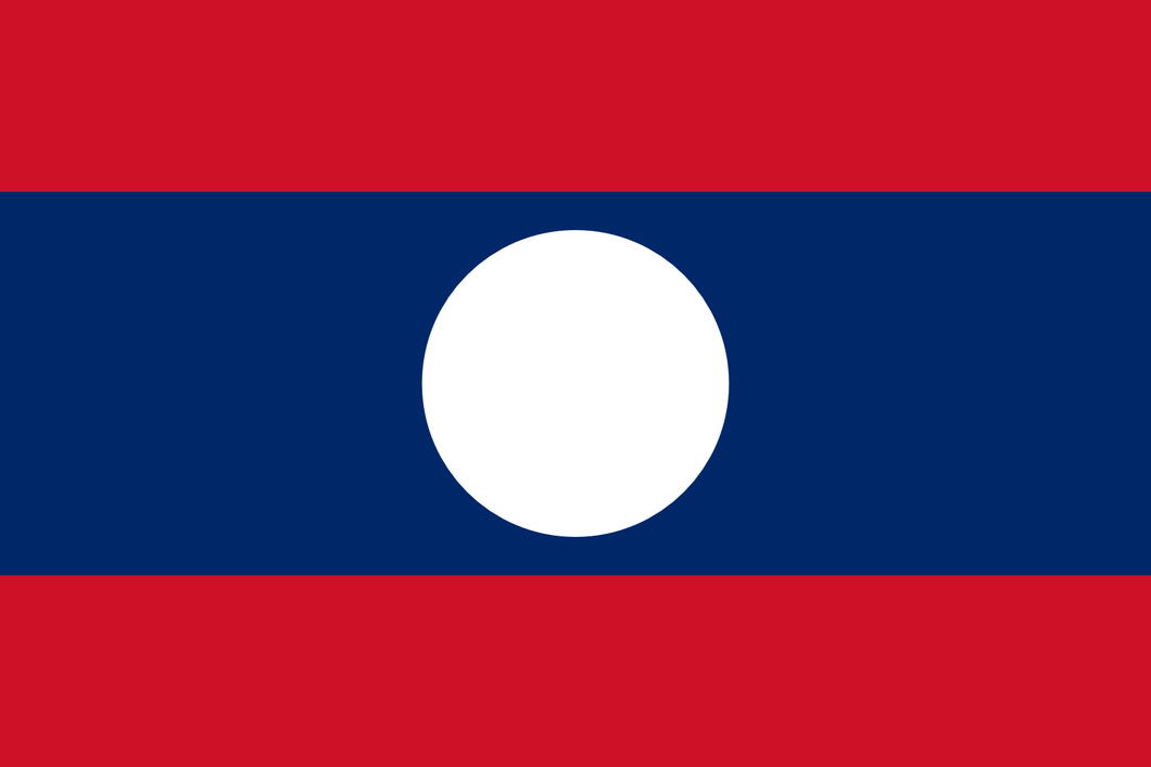 Lao People's Democratic Republic Flag 3x5ft Poly