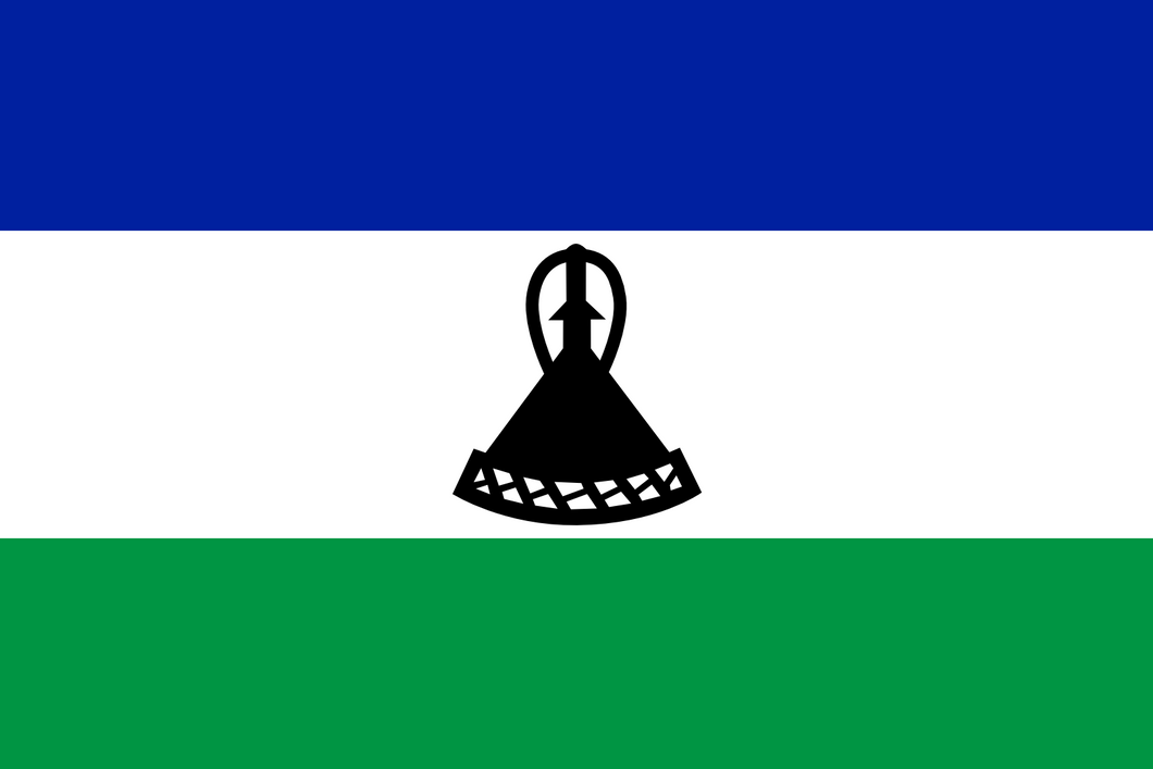 Lesotho Flag 3x5ft Poly