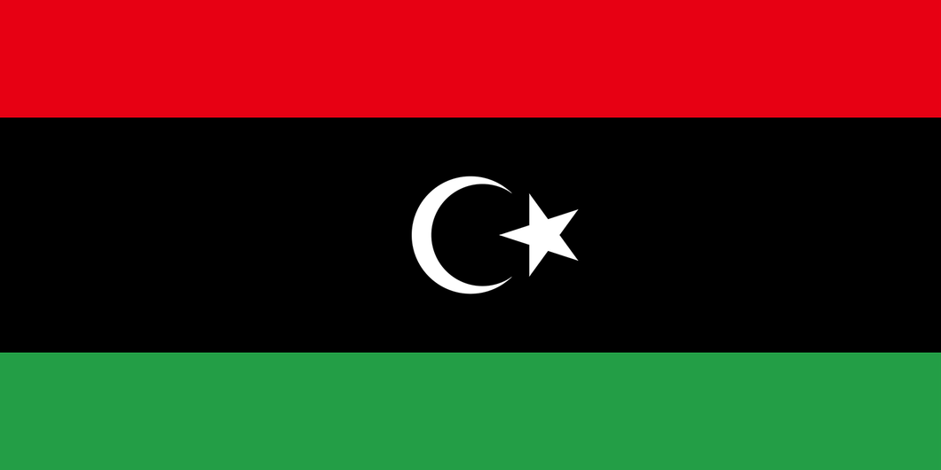 Libya Flag 3x5ft Poly