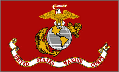 Marines Flag 3x5ft Nylon 210D Single-Sided USMC