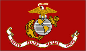 Marines Flag 2x3ft Nylon 150D Double-Sided USMC US Marine Corps