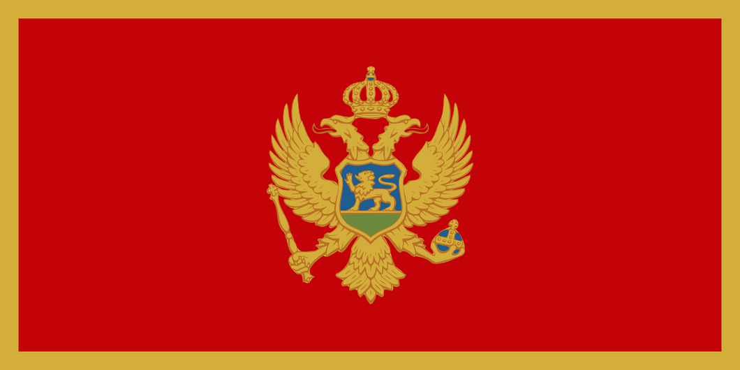 Montenegro Flag 3x5ft Poly