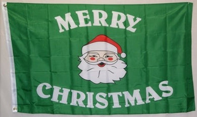 Christmas Santa Green Flag 3x5ft 100D