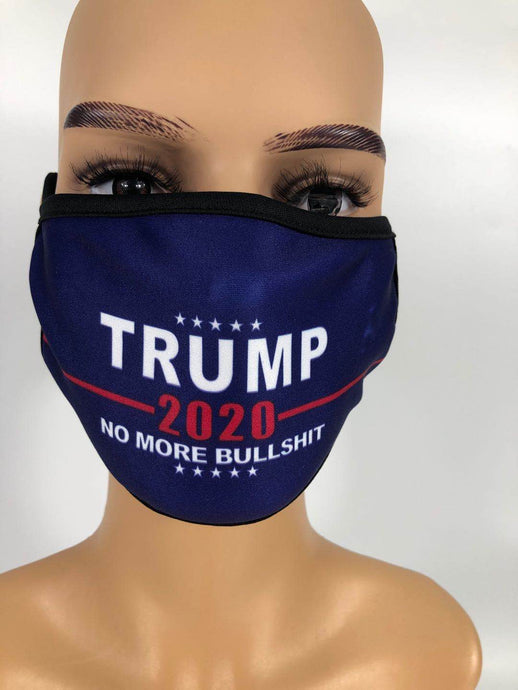 TRUMP 2020 NO MORE BULLSHIT FACE MASK