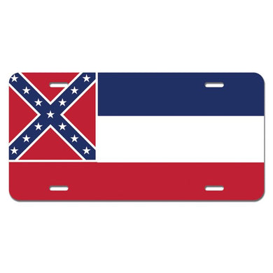 Mississippi Flag Design - Embossed License Plate