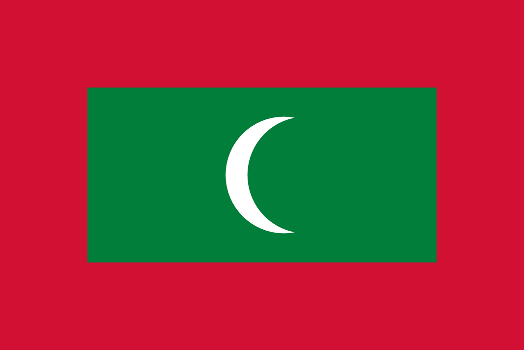 Maldives Flag 3x5ft Poly