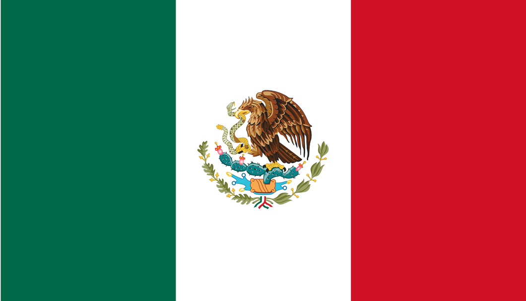 Mexico Flag 3x5ft Poly