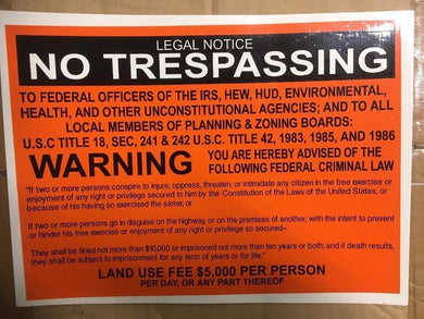 12 NO TRESPASS LEGAL NOTICE SIGNS 8