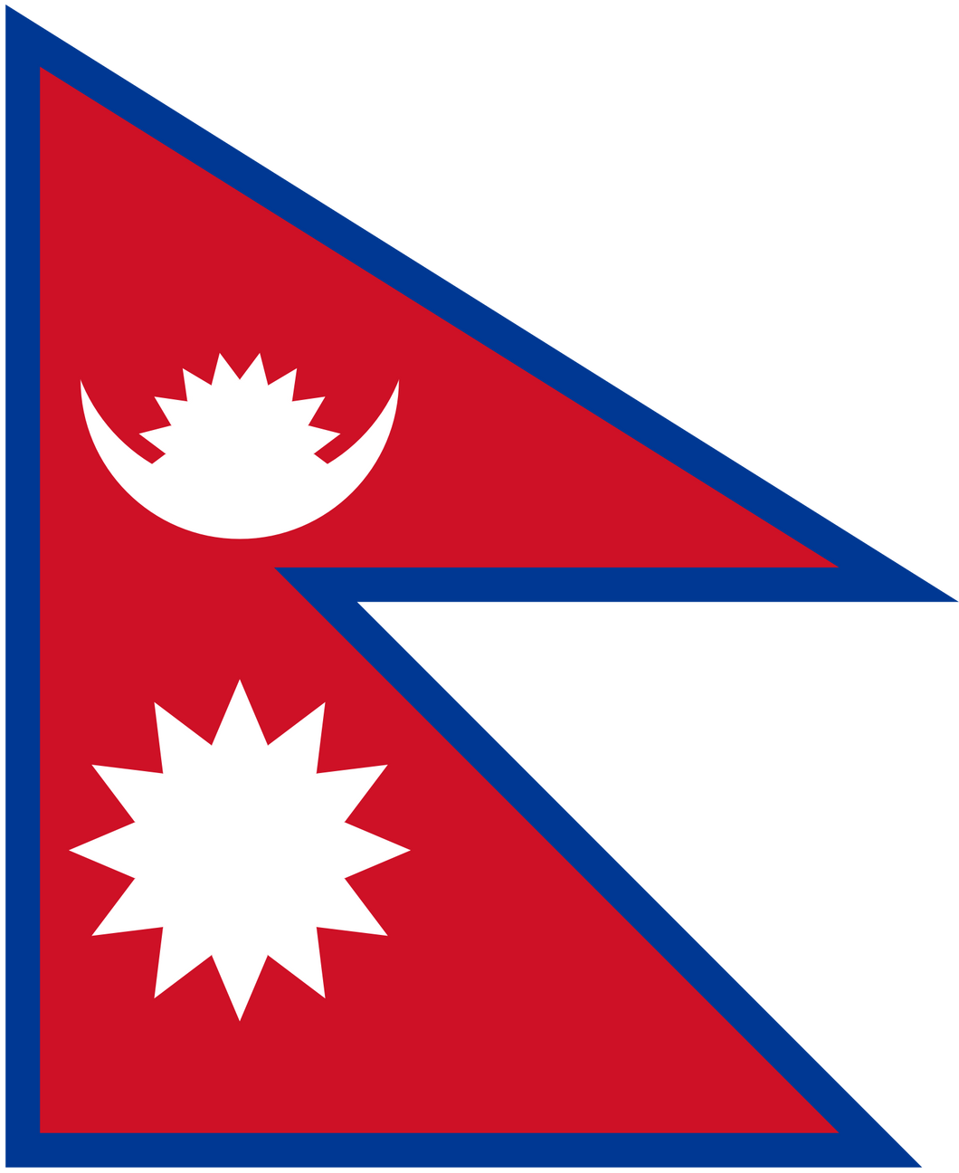 Nepal Flag 3x5ft Poly